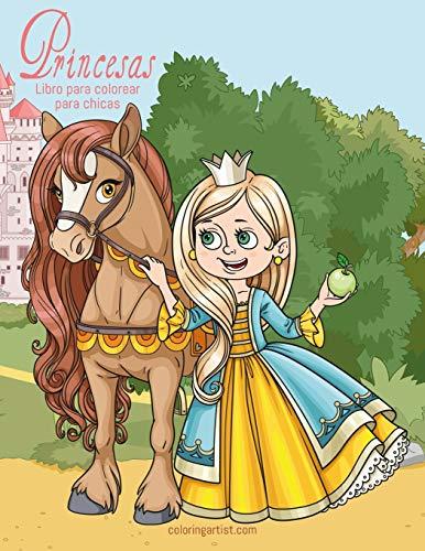 Princesas libro para colorear para chicas