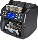 ZZap NC70 Mixed Denomination Banknote Counter/2 Pocket Sorter/Counterfeit Detector - Money Cash Currency Value Machine