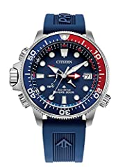 Citizen Eco-Drive™ FAQ Watch Sizing Guide Dive with excellence and style wearing the Citizen Watches® BN2038-01L Aqualand watch. Round stainless steel case. Adjustable ocean blue polyurethane wrist strap. Traditional buckle closure. Four-hand display...