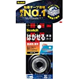 3M スコッチ はがせる両面テープ 超透明 薄手 15mm×1.5m KRS-15