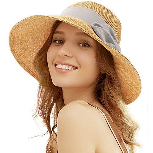Tacobear Pamela Mujer Verano Sombrero Plegable Sombrero de Playa ala A
