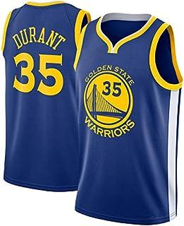 Camiseta de Baloncesto para Hombre, NBA Kevin Durant #35 Golden State Warriors Camiseta de Jugador de Baloncesto Jeysey, Bordado Transpirable y Resistente al Desgaste Camiseta para Fan