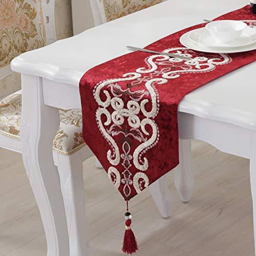 Tafelvlag tafelkleed festive rode bed Chinese vlag tafelkleed tafel Europese vlag Jacquard bed sjaal tafel vlag kan groothandel 32*210cm Rice Yellow