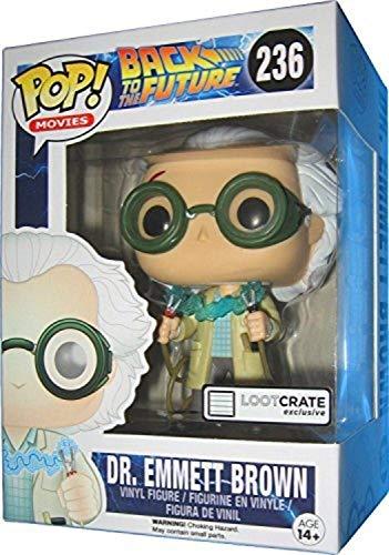 FunKo Pop LC Exclusive 0849803064778 Figura del Dr. Emmett Brown de Regreso al futuro, 10cm