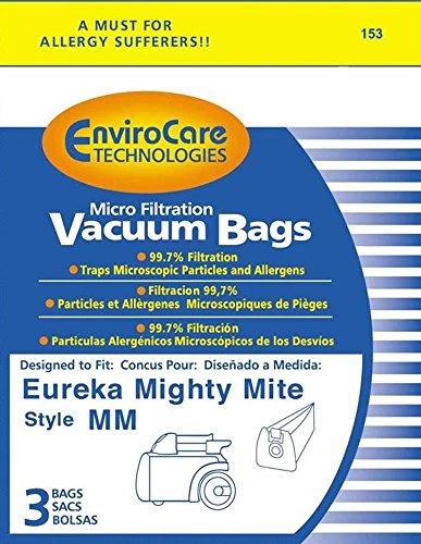 Vacío de piezas y accesorios tipo MM Mighty Mite Eureka bote para bolsas para aspiradora # 60295b