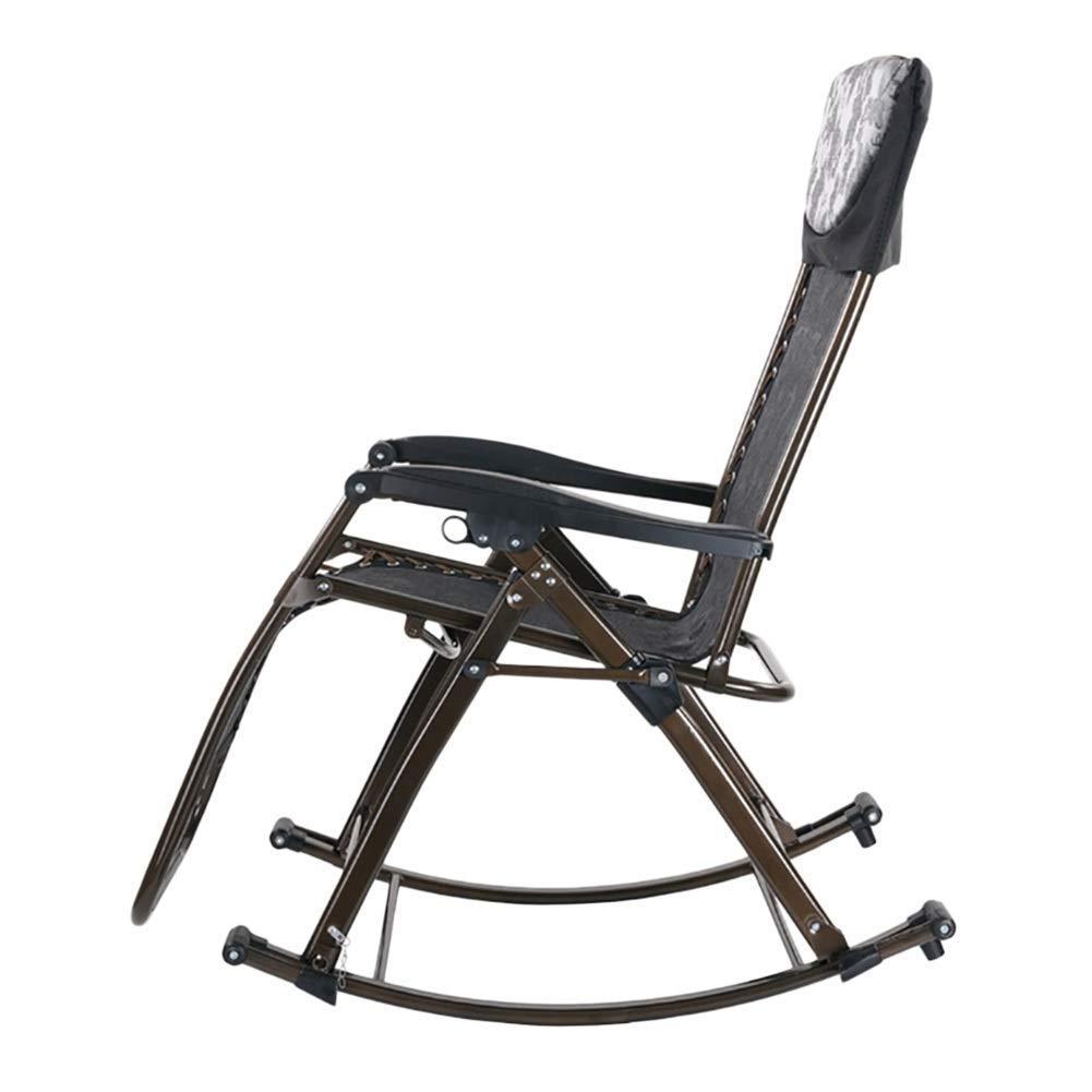 Mecedora portátil y Plegable Negra para Personas de Servicio Pesado - Tumbona Plegable reclinable para Tumbona para terraza de jardín al Aire Libre, Soporte 200 kg: Amazon.es: Deportes y aire libre