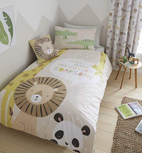 Catherine Lansfield Bettwäsche-Set, 52% Polyester, 48% Baumwolle, Natur, Einzelbett