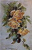 Kit de bordado de tapicería'Rosa amarilla' Juego de bordado de punto de cruz de 25x40cm.Incluyendo hilo de algodón de múltiples hilos cod.604