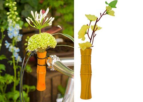 Liix Flower Vase Bamboo Blumenvase für Fahrradlenker gelb
