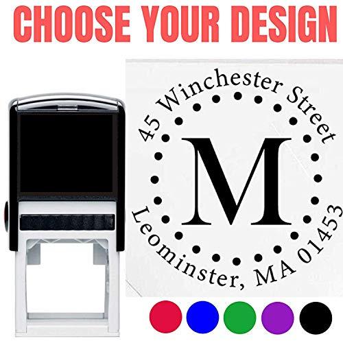 10+ Designs to Choose!! Personalized - Address Stamp - Customized Stamp - Self-Inking Monogram Return Address Mail 3 4 Lines Custom Address Stamper - Wedding Invitation Stamp (Design 3)
