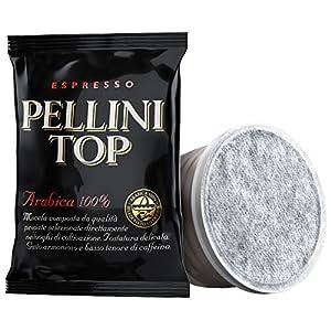 Pellini Caffè Espresso Pellini Top Arabica 100%, Capsule Compatibili Sistema Lavazza Espresso Point, FAP 100 Capsule