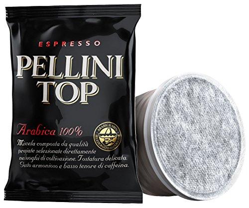 Pellini Caffè - Espresso Pellini Top Arabica 100{89c71e0397a19bb1fbb2ca3a7603744415a4582481b1644b9be9c11ff559a8f6}, Compatibili con Sistema Lavazza Espresso Point, Confezione da 100 capsule FAP