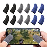Newseego Mobile Game Controllers Finger Sleeve, Breathable Anti-Sweat Soft Touch Screen Finger Sleeve Sensitive Shoot and Aim for Rules of Survival/Knives Out for Android & iOS [12 Pack]
