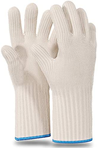 1 Pair Long Sleeve Heat Resistant Gloves Oven Gloves Heat Resistant with Fingers Oven Mitts product image