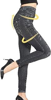 Shujin - Pantalón vaquero para mujer, estampado de cintura alta, espalda baja, mallas para mujer, pantalones de deporte