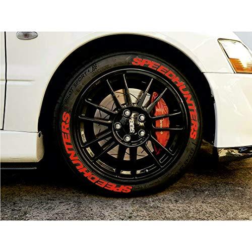 PS PERFORMANCE Reifenbeschriftung Reifen Aufkleber 4x Gummi Tire Tyre Sticker Set passend auf 14