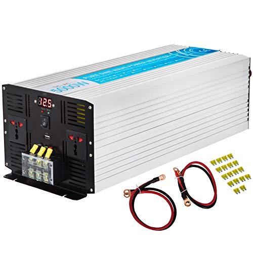 VEVOR 5000W Peak 10000W Inverter di Potenza a Onda Sinusoidale Pura da DC24V a AC 220V per Il computer Portatile, Adattatori Lineari, Alimentatori Switching, Trasformatori, Motori, Congelatori