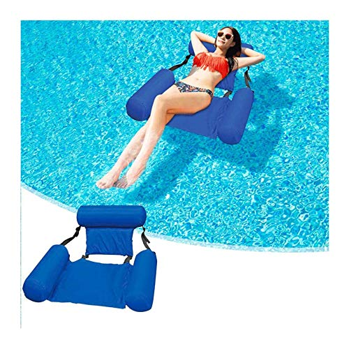 ZXYY Inflatable floating row folding backrest floating bed swimming sofa water recliner inflatable bed floating bed, floating row