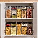 Food Storage Container Plastic Kitchen Refrigerator Noodle Box Multigrain Storage Tank Transparent Sealed Cans (460ml)