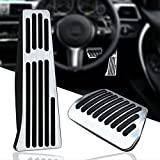 KVR Non-Slip Foot Pedal Pads No Drilling Aluminum Gas Brake Pedal Covers for BMW 3 5 6 7 Series X3 X4 X5 X6 X7 Automatic Car Accelerator Pedals Accessories,2Pcs (Model #C)