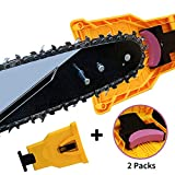 K KERNOWO Chainsaw Sharpener, Two Holes Chainsaw Teeth Sharpener Fast Sharping Stone Grinder Tools Chain Saw Blade Sharpener Compatible with 14/16/18/20 Inch.