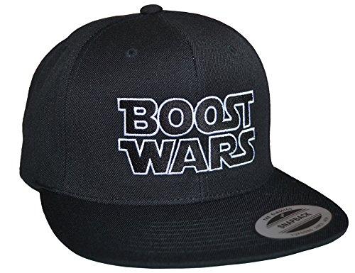 Baddery Petrolhead Industries: Boost Wars - Cap für alle Tuning-, Drift-, und Motorsport Fans - Classic Snapback von Flexfit (One size Black)