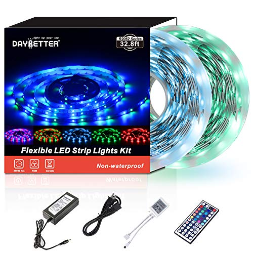 Daybetter SMD 3528 Led Strip Lights with 44 Key Remote( 2 Rolls of 16.4ft ) 1