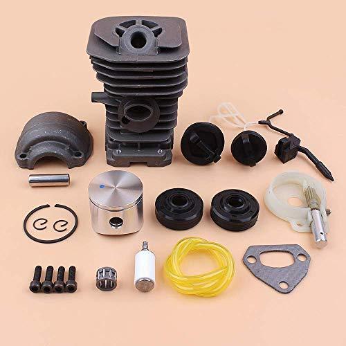 Kit de tapa de sello de aceite de bomba de aceite de cárter de pistón de cilindro de 40 mm compatible con piezas de motor de motosierras de gas Husqvarna 142137