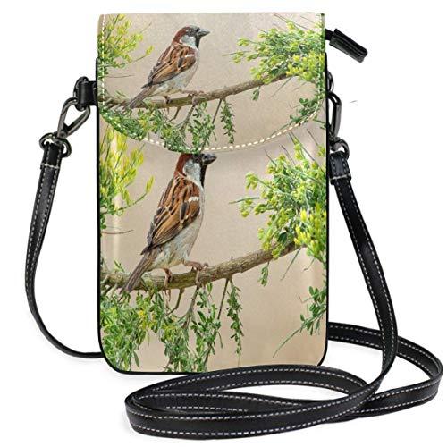 XCNGG Bird Cell Phone Purse Wallet for Women Girl Small Crossbody Purse Bags