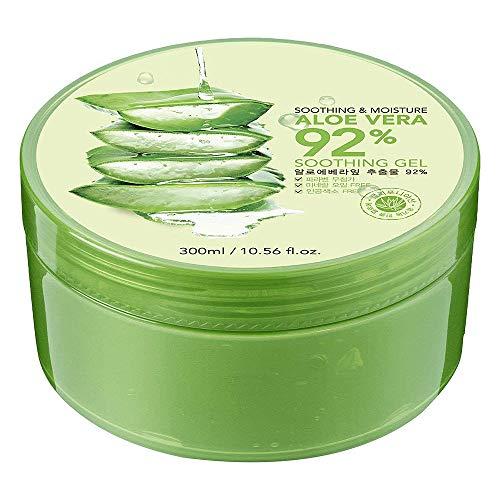Aloe Vera Gel,Huttoly Natürliche Aloe Vera Creme für trockene Haut,After sun gel,Sonnenbrand Reparieren,Beruhigende und Pflegende,Natürliche Feuchtigkeitspflege für Gesicht,Körper,300ml