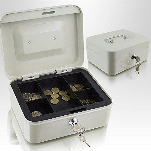 Caja de dinero de 20cm, pequeña, se puede cerrar, para monedas y billetes, caja fuerte, color verde claro