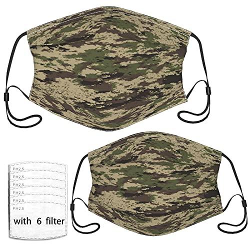 Abstracto Militar Caza Camuflaje Camuflaje Reutilizable Lavable a prueba de polvo Paño Cara Boca Co-ver Pasamontañas Bufanda Para Niños y Adultos