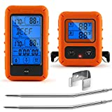 Veken Meat Thermometer for Grilling, Wireless BBQ 2 Probe Touch Screen Digital Instant Read Smoker...