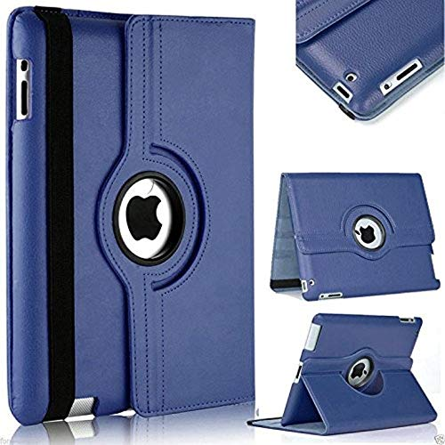 ST Creation Flip Cover 360 Degrees PU Leather Rotating Stand Smart Flip Full Safety case for iPad 2 3 4 (A1460, A1459, A1458, A1416, A1430, A1403, A1397, A1396, A1395) (Blue)