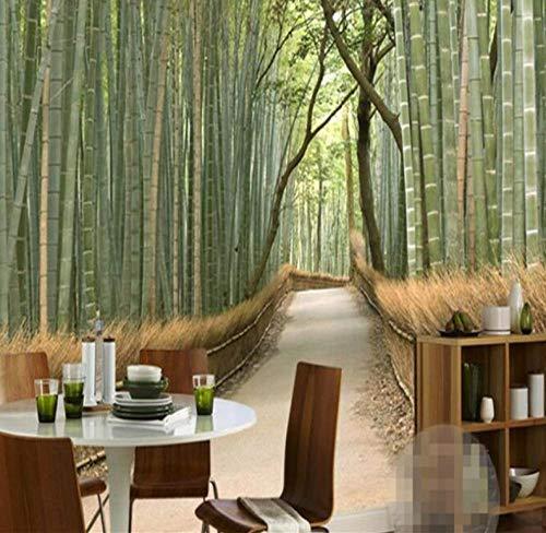 3D achtergrond 3D foto wallpaper muur muur muur sticker Hd Atmosphere Fresh Bamboo Mural Mural Tv Background Wall Mautiful Fotography Wal 350 x 245 cm.