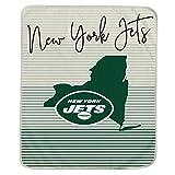 Pegasus Sports NFL Ultra Fleece State Stripe Blanket- New York Jets