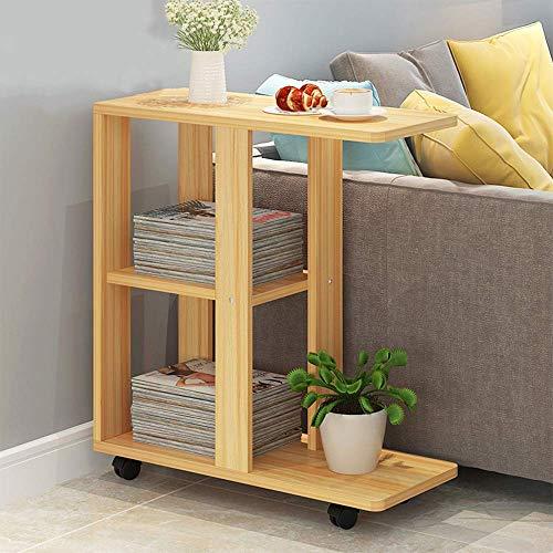 Moderne Tische Minimalistischen Salon Sofa Beistelltisch Schreibtisch Mobile Beistelltisch Schlafsofa Kaffee Tray Home Naturholz, BOSS LV, Walnut Color