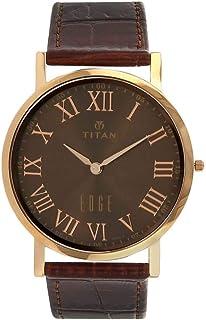 ساعة ايدج للرجال - تصميم نحيف، كوارتز، مقاومة للماء، من تيتان