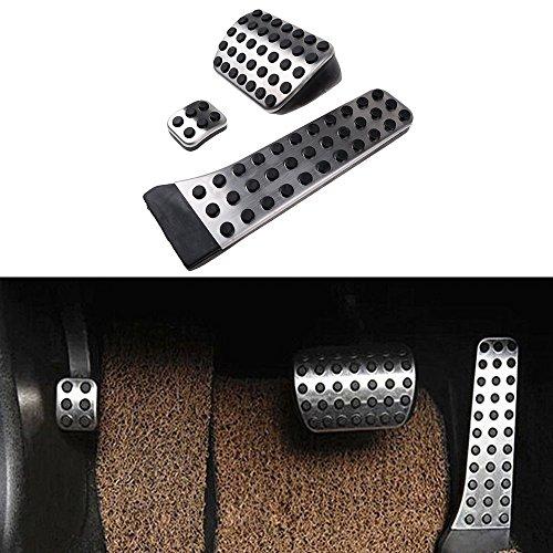 etopmia No Drill Fuel Brake Foot Pedals Fit For Mercedes Benz C/E/S/GLK/SLK/CLS/Sl Class