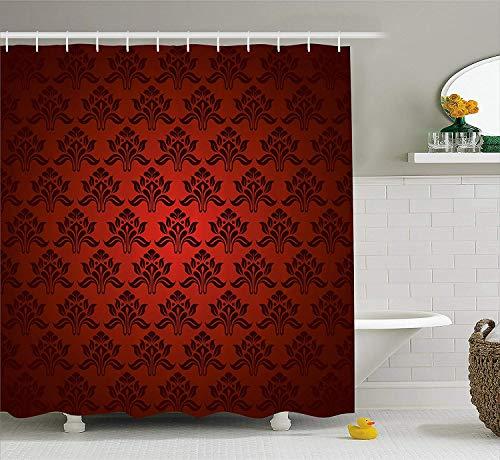 cortinas de baño granate