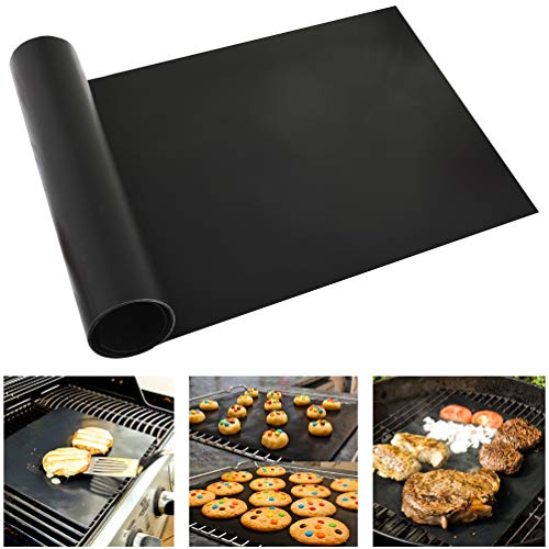 Beenax Grill Mat Oven Liner - Uncut 180 x 40 cm, Cut to Any Size - Non-Stick Barbecue Baking Mat, Heavy Duty - Perfect for Electric, Gas and Charcoal BBQ, Oven - FDA Approved, High Heat Resistant