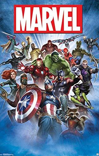 Marvel Group Shot Photo Fridge Magnet - Photo Fridge Mag