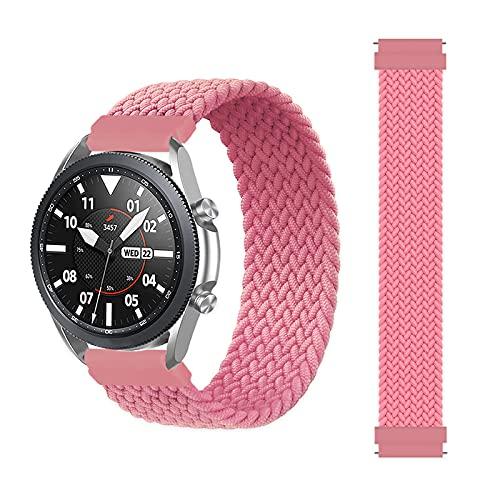Banda de Bucle Solitario Trenzado de 20 mm 22mm Adecuado para Samsung Galaxy Watch 3 46mm 42mm Active 2 40mm 44mm Gear S3 Pulsera Huawei GT2 Pro Correa Cierre de reemplazo