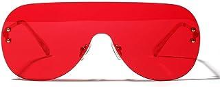 526302baad Gafas de sol polarizadas deportivas protección UV Gafas sin montura  siamesas de la rana del espejo