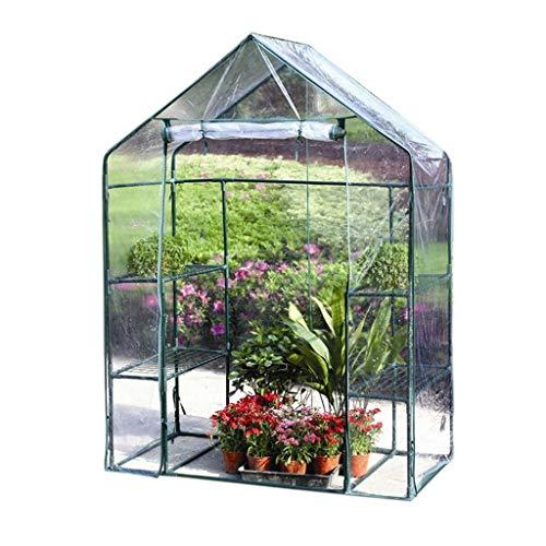 Serres de Jardin Tunnel Cottage Greenhouse - Mini à 3 Niveaux avec Couvercle résistant, 143 × 73 × 195 cm Tomate (Couleur : Clair)