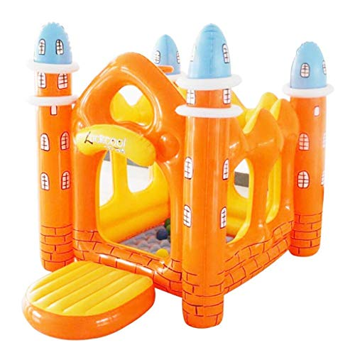 WYBD.Y Bouncy Castles Sports Toys Indoor Small Trampoline Children's Room Small Inflatable Castle Outdoor Children's Amusement Park Children's Toy House Children's Tent Baby Float for Indoor and Ou