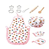 Xiton 11 Stück Für Kinder Kochen Und Backen Set Kids Chef Role Play Inklusive Schürze Chef-Hut Utensilien Kuchen Cutter Kinder Küche Spielzeug