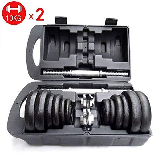 manubri palestra metallo Suge Set di manubri Palestra Bicipite Pesi casa Attrezzature for Il Fitness Muscolo del Braccio di Esercitazione 20 kg manubri 44 libbre