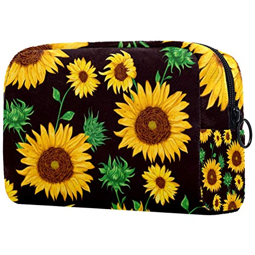 Geschenke für Männer Frauen Schminktasche Kulturbeutel Kleine Kosmetiktasche - Blume (8)