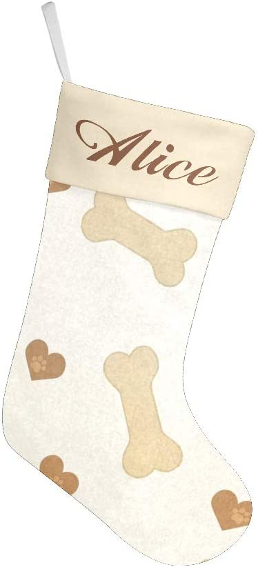 XIUCOO Custom Christmas 5 ☆ popular Stockings Max 49% OFF with Name Xmas Personalized Fe